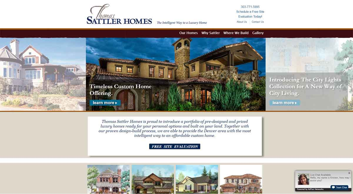Luxury home builder custom website development for Home builder website