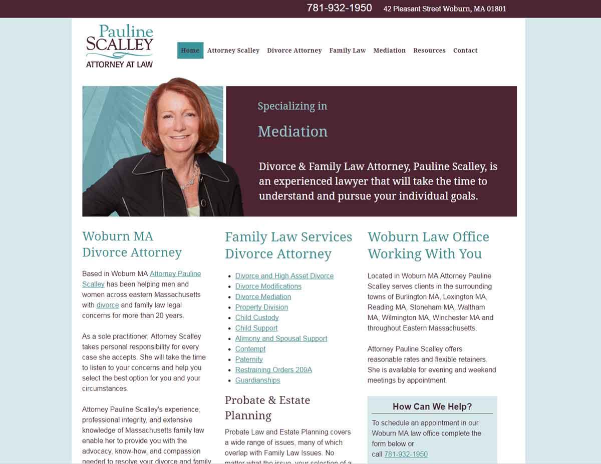 responsive law website