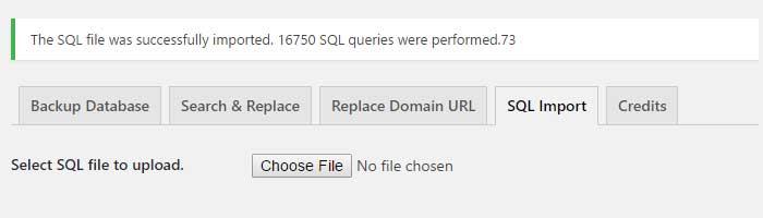 SQL Import